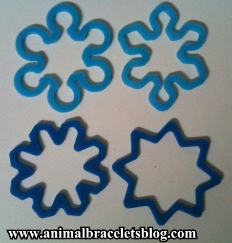 Four-snowflakes-rubber-bands