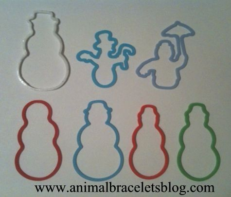 Snowman-silly-bandz-multiple