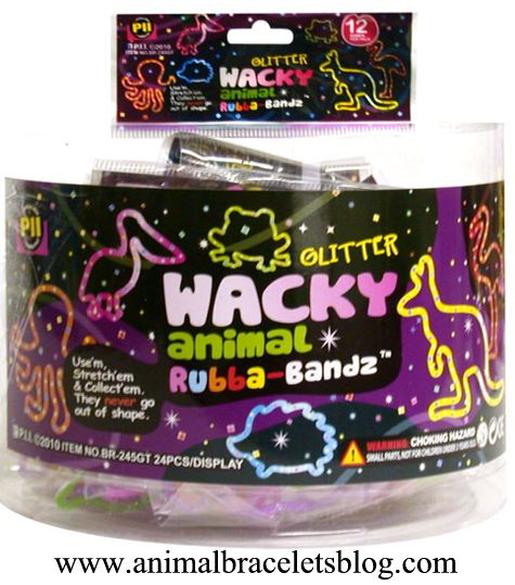 Wacky-animal-glitter-rubba-bandz