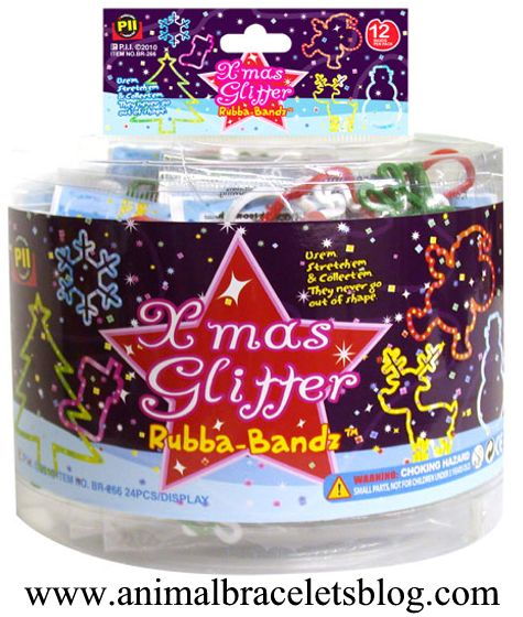 Xmas-glitter-rubba-bandz-display