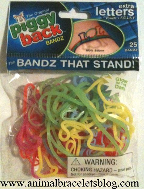 Letters-piggyback-bandz-pack